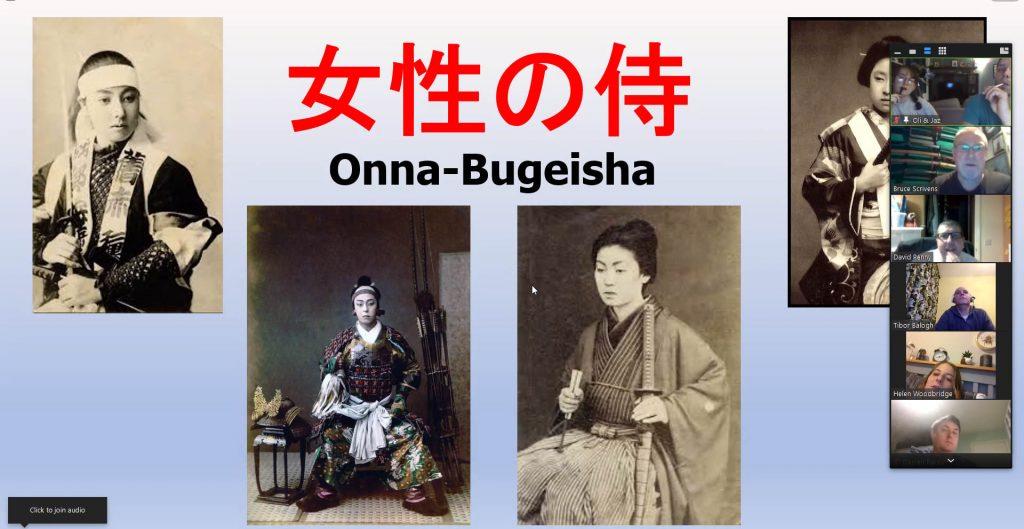 Screenshot of female samurai presentation